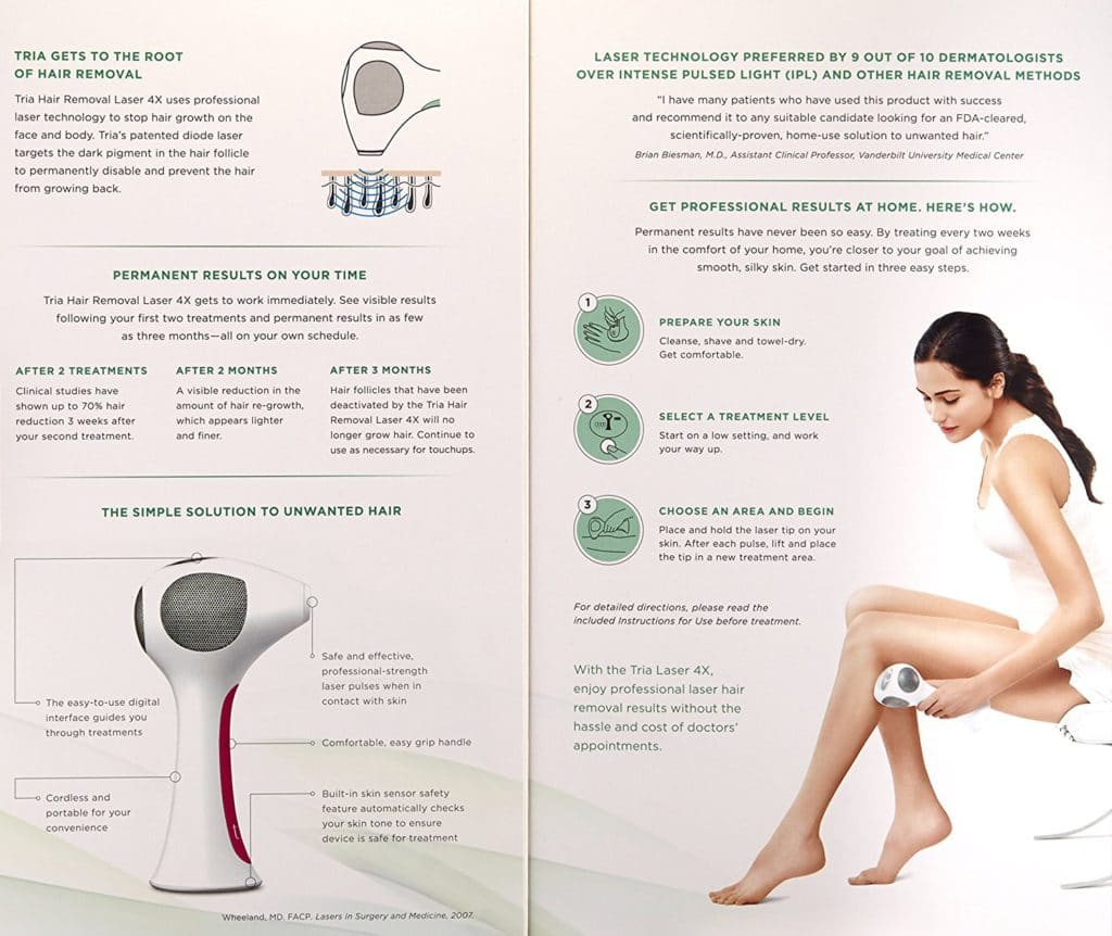 tria 4x laser hair removal review