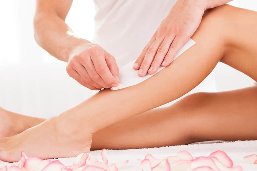 Waxing - painful hair removal methods