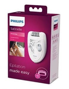 philips satinelle epilator package showing whats included