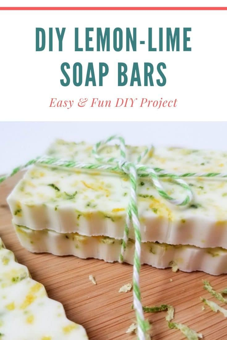 These homemade lemon and lime soap bars are a fun and easy DIY project for Spring!
