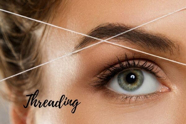 threading for facial hair removal