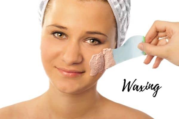 waxing facial hair